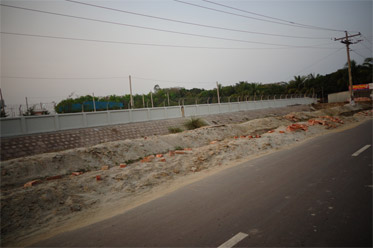 Boundary Wall Under Padma Multipurpose Bridge